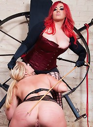Nasty Jemstone hanging and humilates Sarah Kelly in a stable