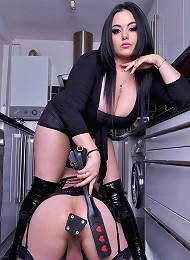 Mistress Jemstone humiliates tranny Fiona with enforced anal