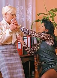 Heavy BDSM Lesbian Fuck Sequence