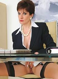 Office masturbating mature